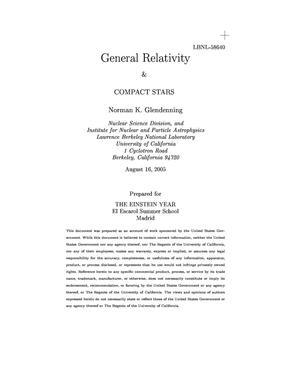 Primary view of object titled 'General Relativity&Compact Stars'.