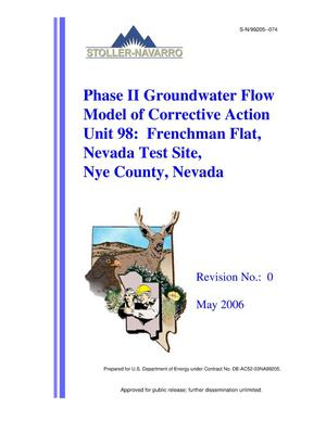 Primary view of object titled 'Phase II Groundwater Flow Model of Corrective Action Unit 98: Frenchman Flat, Nevada Test Site, Nye County, Nevada, Rev. No.: 0'.