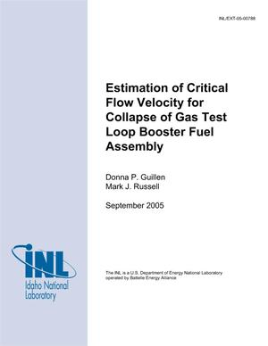 Primary view of object titled 'Estimation of critical flow velocity for collapse of booster fuel assembly'.