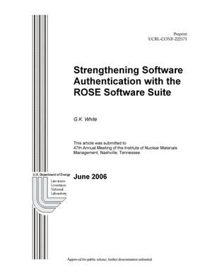 Primary view of object titled 'Strengthening Software Authentication with the ROSE Software Suite'.