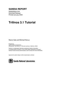 Primary view of object titled 'Trilinos 3.1 tutorial.'.
