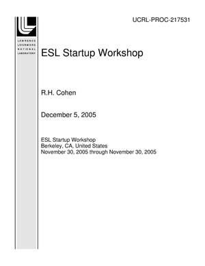 Primary view of object titled 'ESL Startup Workshop'.