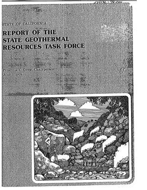 Primary view of object titled 'Report of the State Geothermal Resources Task Force, State of California'.