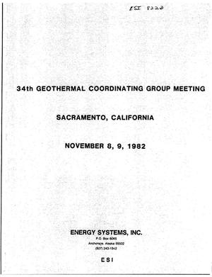 Primary view of object titled '34th Geothermal Coordinating Group Meeting'.