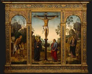 Primary view of The Crucifixion with the Virgin, Saint John, Saint Jerome and Saint Mary Magdalen
