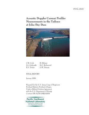Primary view of object titled 'Acoustic Doppler Current Profiler Measurements in the Tailrace at John Day Dam'.