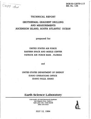 Primary view of object titled 'Geothermal Gradient Drilling and Measurements Ascension Island, South Atlantic Ocean'.