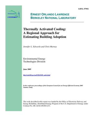Primary view of object titled 'Thermally Activated Cooling: A Regional Approach for EstimatingBuilding Adoption'.