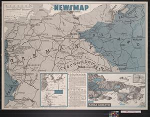 Primary view of object titled 'Newsmap. For the Armed Forces. 283rd week of the war, 165th week of U.S. participation'.