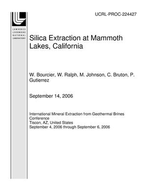 Primary view of object titled 'Silica Extraction at Mammoth Lakes, California'.