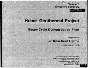 Primary view of object titled 'Heber Geothermal Project, binary-cycle demonstration plant. Volume 1. Executive summary'.