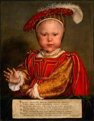 Primary view of object titled 'Edward VI as a Child'.