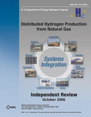 Primary view of object titled 'Distributed Hydrogen Production from Natural Gas: Independent Review'.