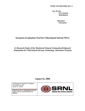 Primary view of object titled 'SCENARIOS EVALUATION TOOL FOR CHLORINATED SOLVENT MNA'.
