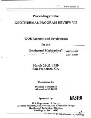 Primary view of object titled 'U.S. Department of Energy, Geothermal Program Review VII, Critique of the Geothermal Exploration R&D Program'.