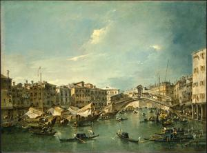 Primary view of object titled 'Grand Canal with the Rialto Bridge, Venice'.