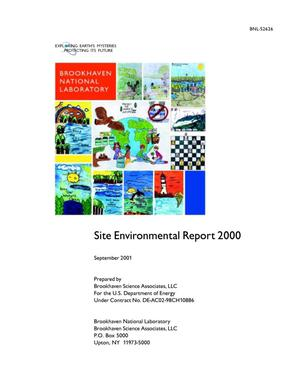 Primary view of object titled 'SITE ENVIRONMENTAL REPORT 2000 (SEPTEMBER 2001).'.