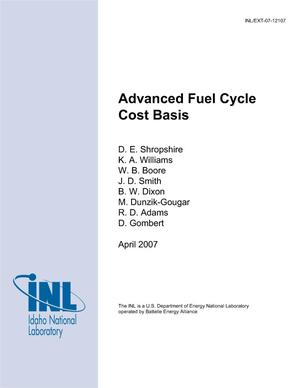 Primary view of object titled 'Advanced Fuel Cycle Cost Basis'.