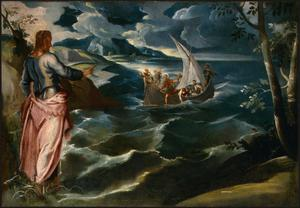 Primary view of Christ at the Sea of Galilee