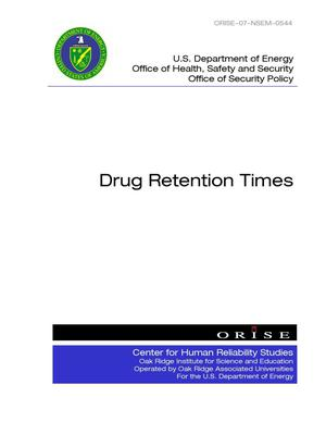Primary view of object titled 'Drug Retention Times'.