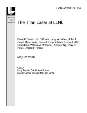 Primary view of object titled 'The Titan Laser at LLNL'.