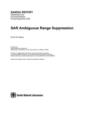 Primary view of object titled 'SAR ambiguous range suppression.'.
