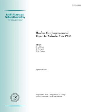 Primary view of object titled 'Hanford Site Environmental Report for Calendar Year 1998'.