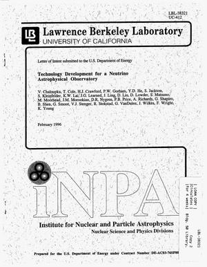 Primary view of object titled 'Technology Development for a Neutrino AstrophysicalObservatory'.
