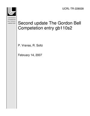 Primary view of object titled 'Second update The Gordon Bell Competetion entry gb110s2'.