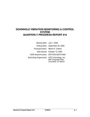 Primary view of object titled 'DOWNHOLE VIBRATION MONITORING & CONTROL SYSTEM'.