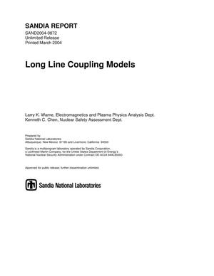 Primary view of object titled 'Long line coupling models.'.