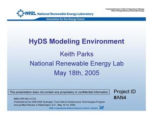 Primary view of object titled 'HyDS Modeling Environment (Presentation)'.