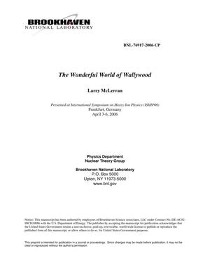 Primary view of object titled 'THE WONDERFUL WORLD OF WALLYWOOD.'.
