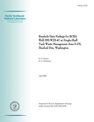 Primary view of object titled 'Borehole Data Package for RCRA Well 299-W22-47 at Single-Shell Tank Waste Management Area S-SX, Hanford Site, Washington'.