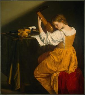 Primary view of object titled 'Lute Player'.