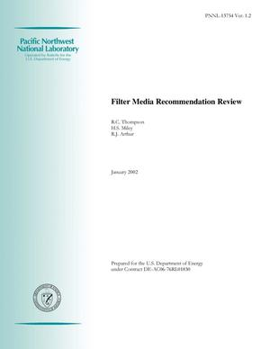 Primary view of object titled 'Filter Media Recommendation Review'.