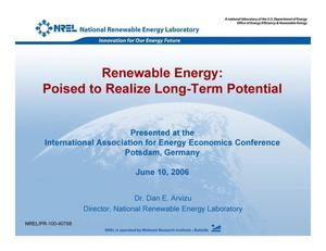 Primary view of object titled 'Renewable Energy: Poised to Realize Long-Term Potential'.