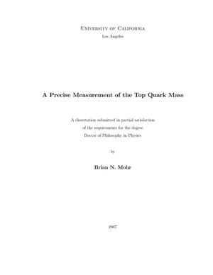 Primary view of object titled 'A precise measurement of the top quark mass'.