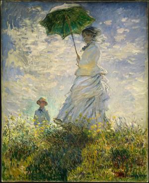 Primary view of object titled 'Woman with a Parasol -- Madame Monet and Her Son'.