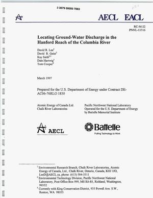 Primary view of object titled 'Locating Ground-Water Discharge in the Hanford Reach of the Columbia River'.