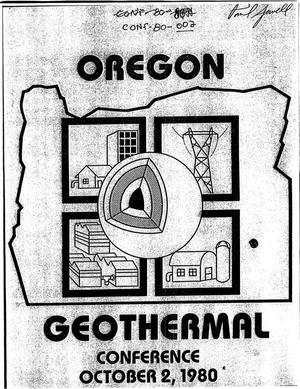 Primary view of object titled 'The Oregon Geothermal Planning Conference'.