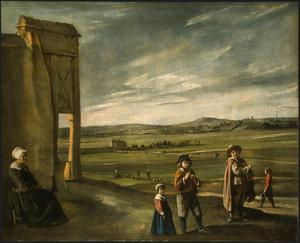 Primary view of Landscape with Peasants