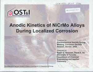Primary view of object titled 'Anodic Kinetics of NiCrMo Alloys During Localized Corrosion'.