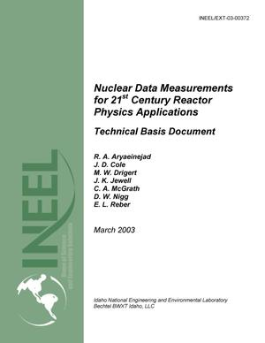 Primary view of object titled 'Nuclear Data Measurements for 21st Century Reactor Physics Applications'.