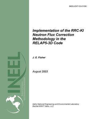Primary view of object titled 'Implementation of the RRC-KI Neutron Flux Correction Methodology in the RELAP5-3D Code'.