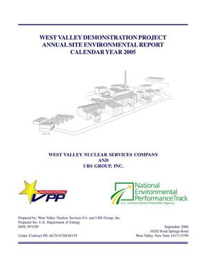 Primary view of object titled 'West Valley Demonstration Project Annual Site Environmental Report Calendard Year 2005'.