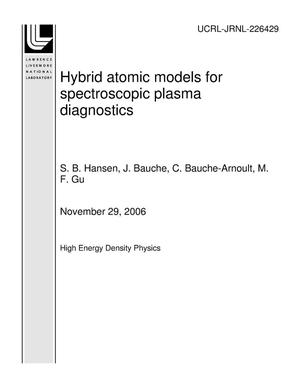 Primary view of object titled 'Hybrid atomic models for spectroscopic plasma diagnostics'.