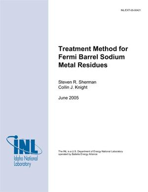 Primary view of object titled 'Treatment Method for Fermi Barrel Sodium Metal Residues'.