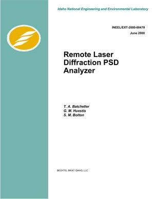 Primary view of object titled 'Remote Laser Diffraction PSD Analyzer'.