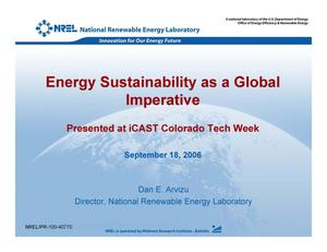 Primary view of object titled 'Energy Sustainability as a Global Imperative (Presentation)'.